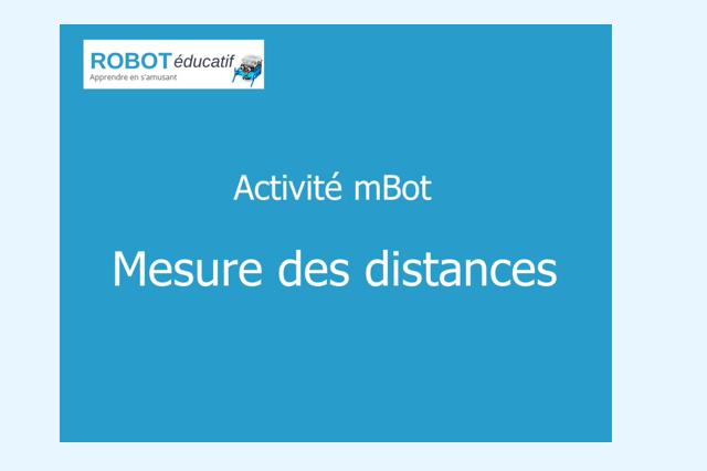 Activité mBot : Mesurer des distances