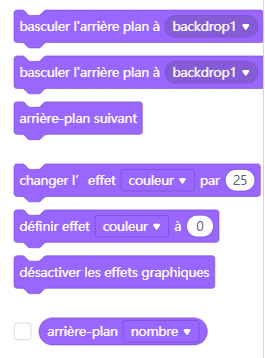 partie blocs de l'interface graphique de scratch